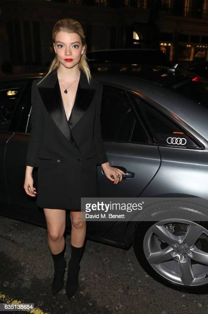 Anya Taylor Joy arrives in an Audi at the ELLE Style Awards at 41 Conduit Street on February 13 2017 in London England