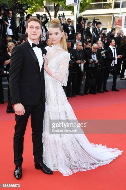 Anya TaylorJoy and guest attend 'The Meyerowitz Stories' premiere during the 70th annual Cannes Film Festival at Palais des Festivals on May 21 2017...