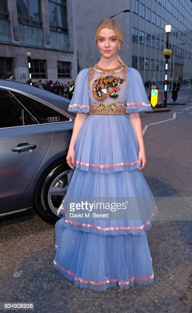 Anya TaylorJoy arrives in an Audi at the EE BAFTA Film Awards at the at Royal Albert Hall on February 12 2017 in London England