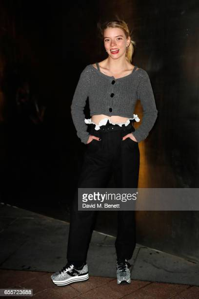 Anya TaylorJoy arrives wearing Hogan trainers to Drake The Boy Meets World Tour at The O2 Arena on March 20 2017 in London England
