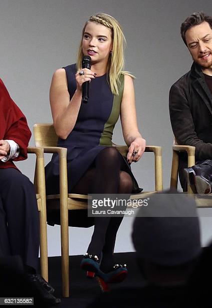 Anya TaylorJoy attends Meet the Actor James McAvoy Anya TaylorJoy and Betty Buckley to discuss 'Split' at Apple Store Soho on January 19 2017 in New...