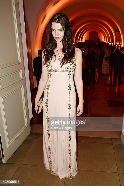 Anya TaylorJoy attends the BFI London Film Festival Awards at Banqueting House on October 17 2015 in London England