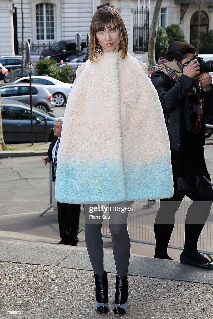 Anya Ziourova arrives at the Miu Miu show as part of the Paris Fashion Week Womenswear Fall/Winter 2014-2015 on March 5, 2014 in Paris, France.