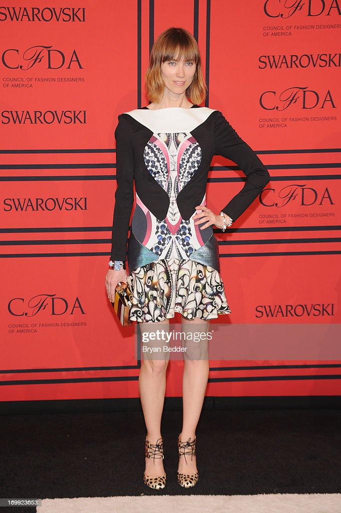 Anya Ziourova attends 2013 CFDA FASHION AWARDS Underwritten By Swarovski - Red Carpet Arrivals at Lincoln Center on June 3, 2013 in New York City.
