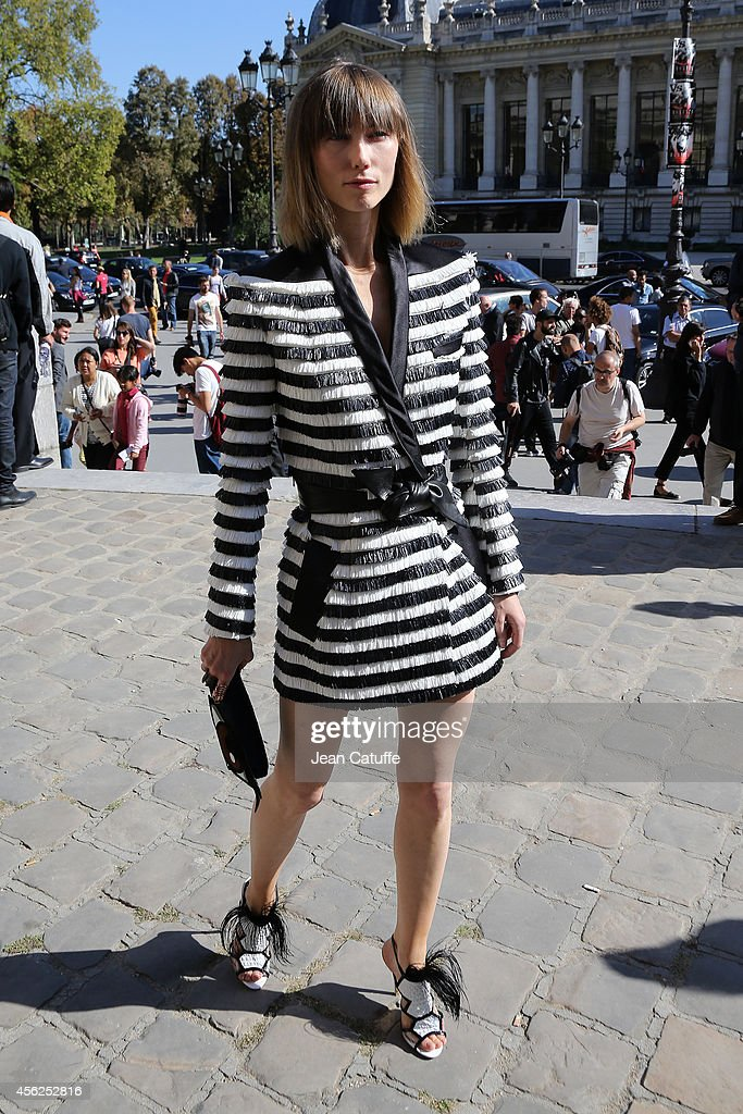 Celebrity Sighting At Paris Fashion Week, Womenswear SS 2015 : September 27th