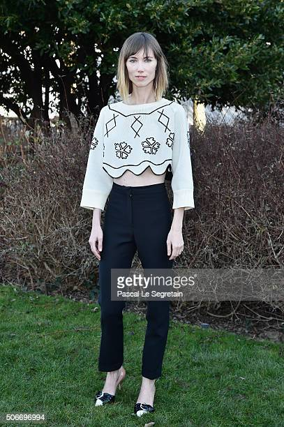Anya Ziourova attends the Christian Dior Spring Summer 2016 show as part of Paris Fashion Week on January 25 2016 in Paris France