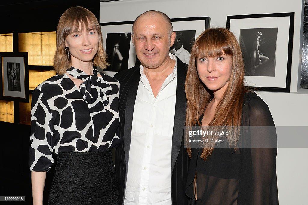 Anya Ziourova, Cesare Casadei, and Alessandra Casadei attend the Casadei dinner at Omar's, hosted by Julia Restoin Roitfeld and Cesare Casadei celebrating Resort 2014 at on June 5, 2013 in New York City
