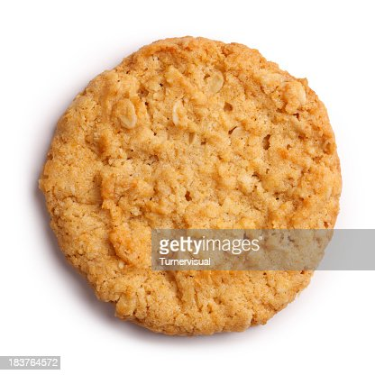 Anzac Biscuit Isolated + Clipping Path