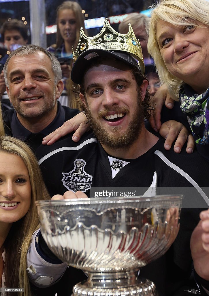 Anze Kopitar of the Los Angeles Kings poses with the Stanley Cup after the Kings defeated the New Jersey Devils 61 to win the Stanley Cup series 42...