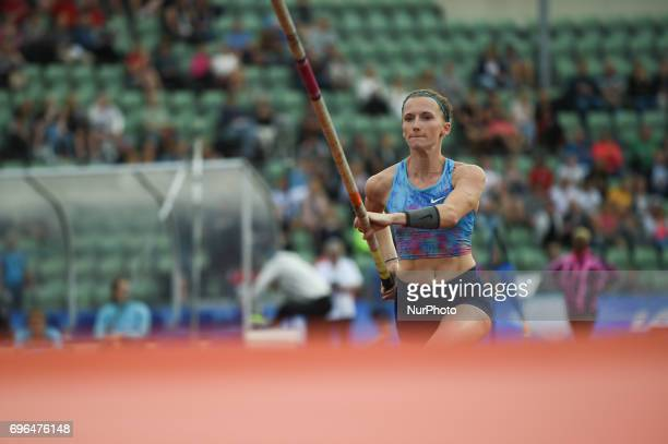 Anzhelika Sidorova compete in the pole vault during the Doha IAAF Diamond League 2017 at the Bislett Stadium on June 15 2017 in Oslo Norway
