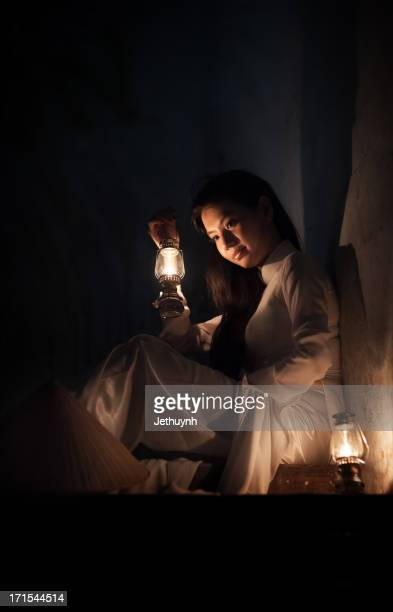 Ao Dai with the oil lamp light
