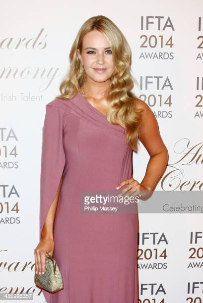 Aoibhin Garrihy attends the Irish Film And Television Awards on April 5 2014 in Dublin Ireland