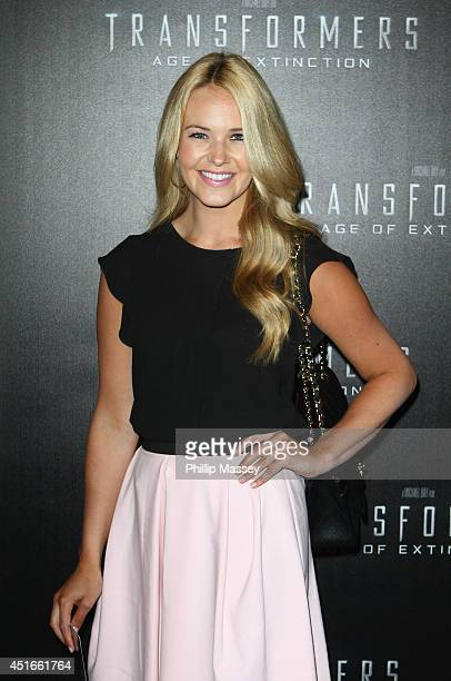 Aoibhin Garrihy attends the Irish Premiere of 'Transformers 4 Age of Extinction' at Savoy Cinema on July 3 2014 in Dublin Ireland