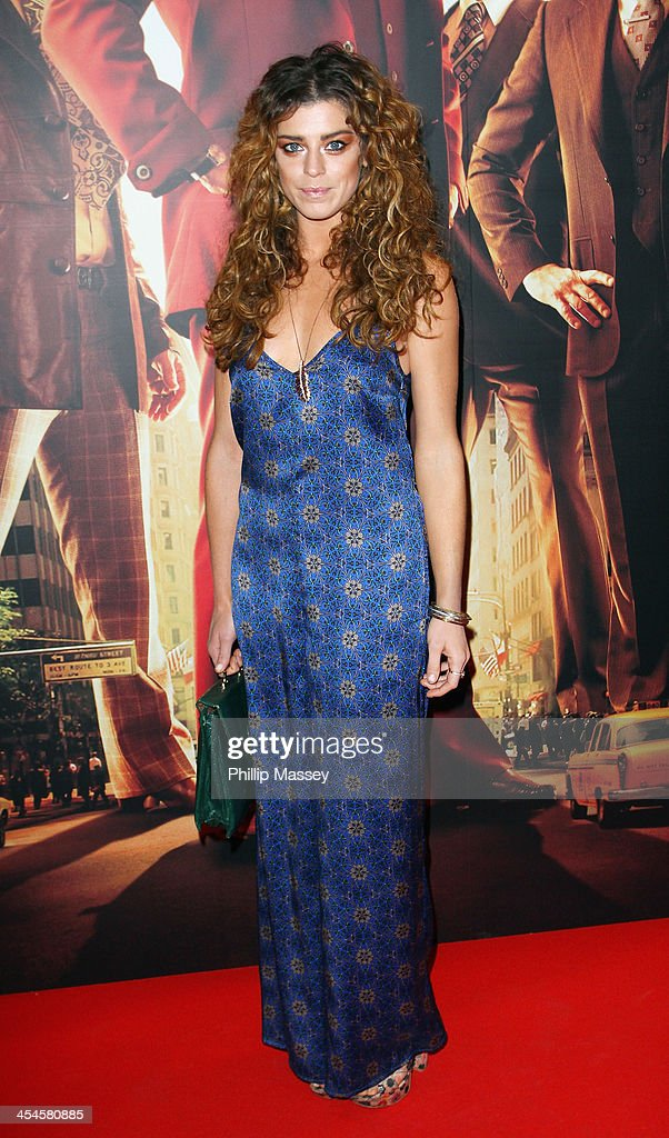 Aoibhinn McGinnity attends the Irish premiere of 'Anchorman 2: The Legend Continues' on December 9, 2013 in Dublin, Ireland.