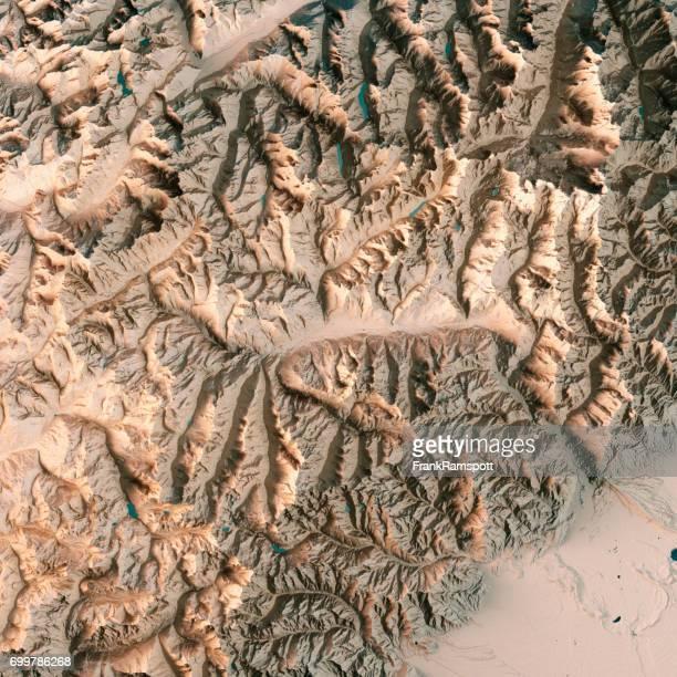Aosta Tal Staat Italien 3D-Render topographische Karte Neutral