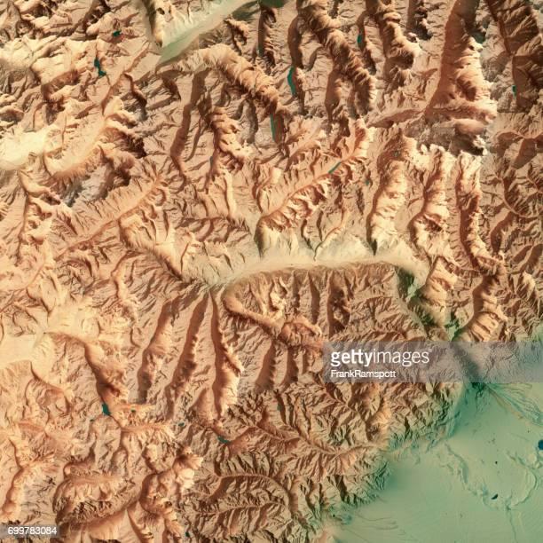 Aosta Tal Staat Italien 3D-Render topographische Karte