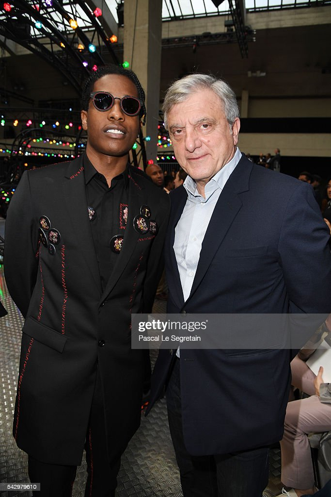 A$ap Rocky and Sidney Toledano attend the Dior Homme Menswear Spring/Summer 2017 show as part of Paris Fashion Week on June 25, 2016 in Paris, France.