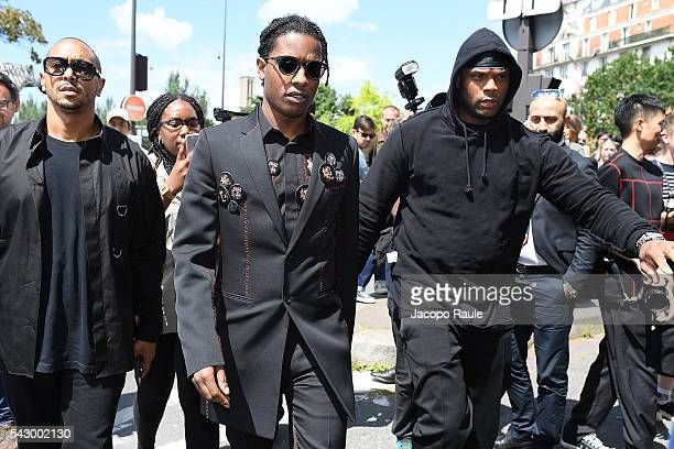 A$ap Rocky is seen arriving at Dior Show during Paris Fashion Week Menswear Spring/Summer 2017 on June 25 2016 in Paris France