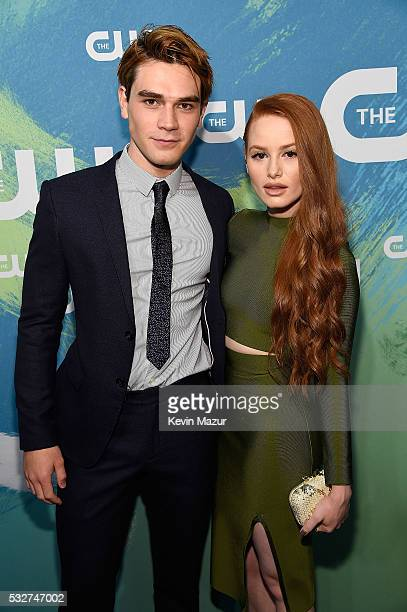 Apa and Madelaine Petsch attend The CW Network's 2016 Upfront at The London Hotel on May 19 2016 in New York City