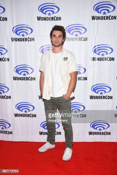 J Apa attends the 'Riverdale' panel at WonderCon 2017 Day 1 at Anaheim Convention Center on March 31 2017 in Anaheim California