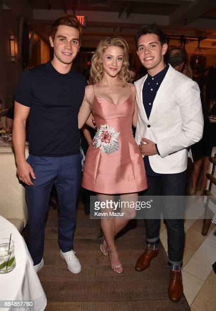 KJ Apa Lili Reinhart and Casey Cott attend The CW Network's 2017 party at Avra Madison Estiatorio on May 18 2017 in New York City