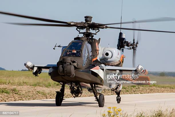 AH-64D Apache Longbow of the Royal Netherlands Air Force doing a demo, Phalsbourg, France.