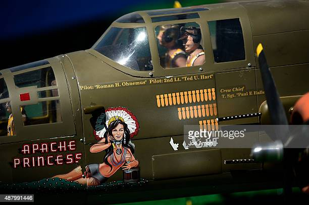 GOLDEN CO SEPTEMBER 12 Apache Princess adorns a B25 built by Maurice Morgan of Alamogordo NM at the Warbirds Over The Rockies the event is a classic...
