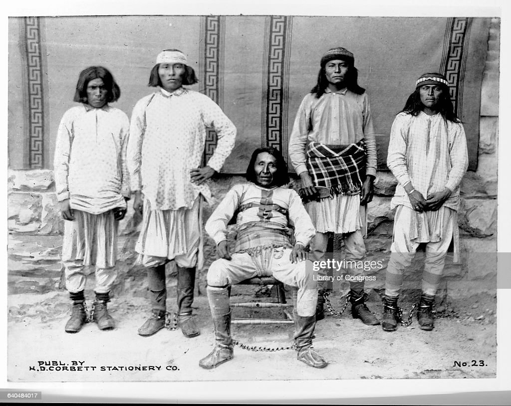 Apache prisoners with ankle chains, Tucson, Arizona ... Pictures Of Prisoners In Chains