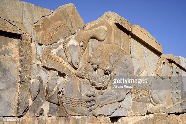 Apadana, Palace of Darius, Lion and bull combat