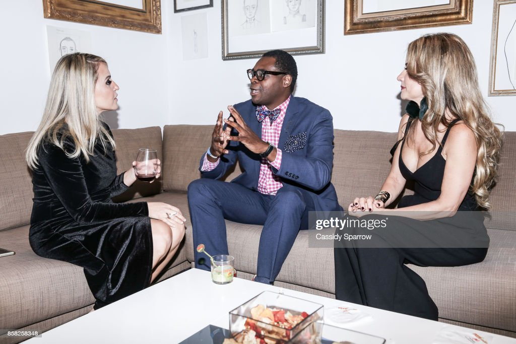 apArt Co-Founder Thais Marin, YRB Editor Jonn Nubian and apArt Executive Director Maria Ines Moraes attend 'Terebintina' Exhibition Opening at Private Residence on October 5, 2017 in New York City.