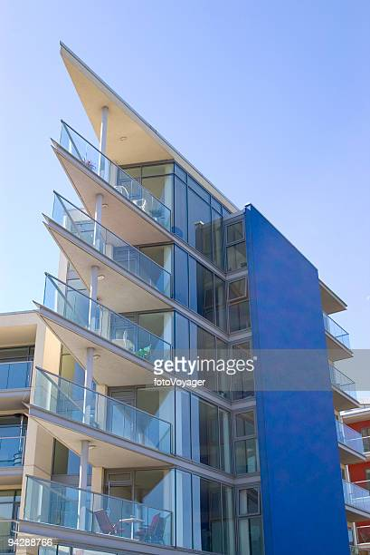 Apartment block with pointed balconies