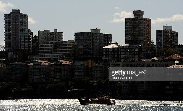 Apartment blocks are displayed in the inner Sydney suburb of Kirribilli on August 1 2012 AFP PHOTO / Greg WOOD