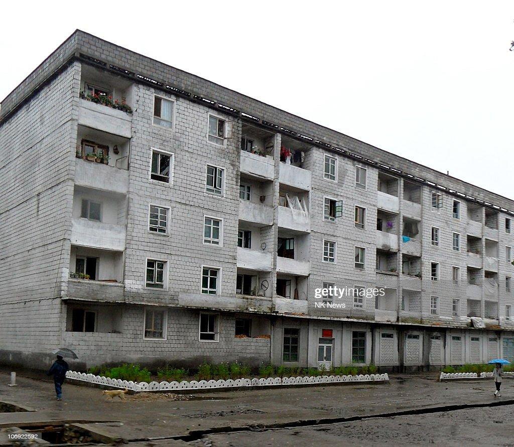 Apartment blocks are seen near Hamhung, North Korea's second largest city, on September 18, 2010 in Hamhung, North Korea.