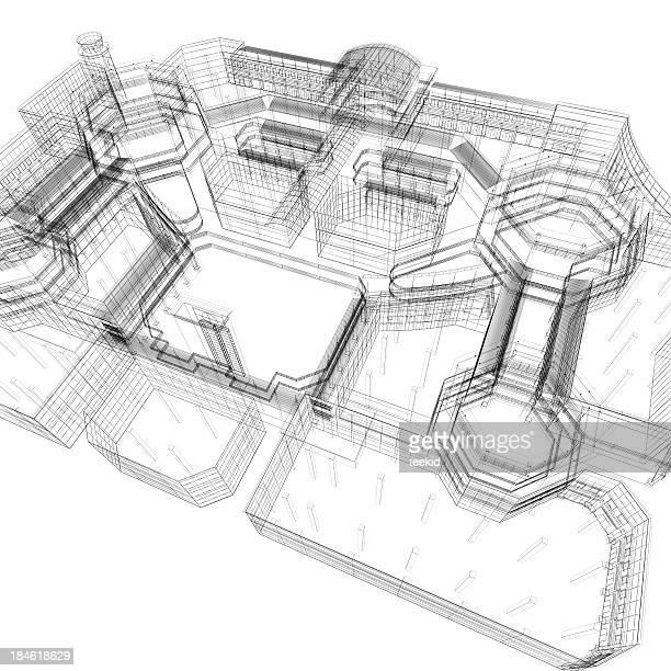 Apartment Technische Zeichnung