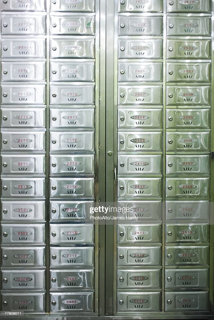 apartment building mailboxes stock photo getty images