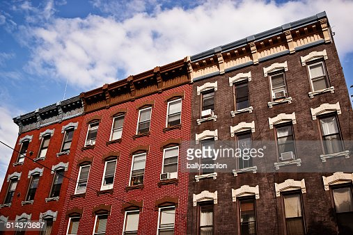 Apartment Buildings In Brooklyn Stock Photo Getty Images