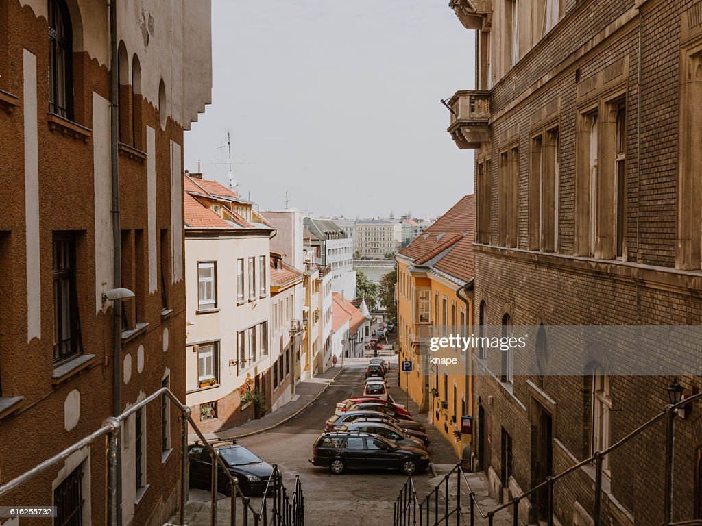 Apartment buildings in Budapest Hungary : Stock Photo