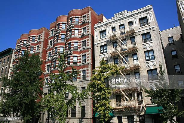Apartment buildings in Harlem, New York,