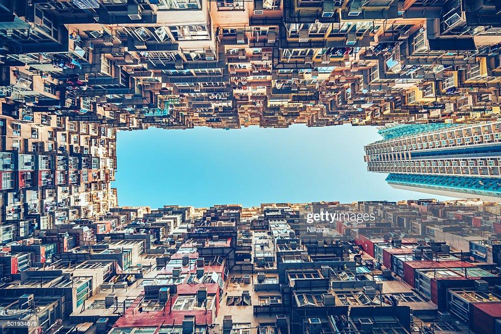 Edifici residenziali a Hong Kong, Cina : Foto stock