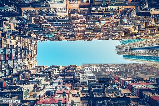 Immeubles d'appartements à Hong Kong, en Chine