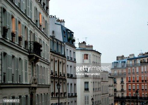 Apartment buildings in Paris : Stock Photo