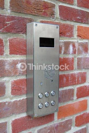 Apartment Call Box Stock Photo