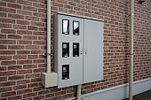 Apartment electric equipment.Electric meter facility.