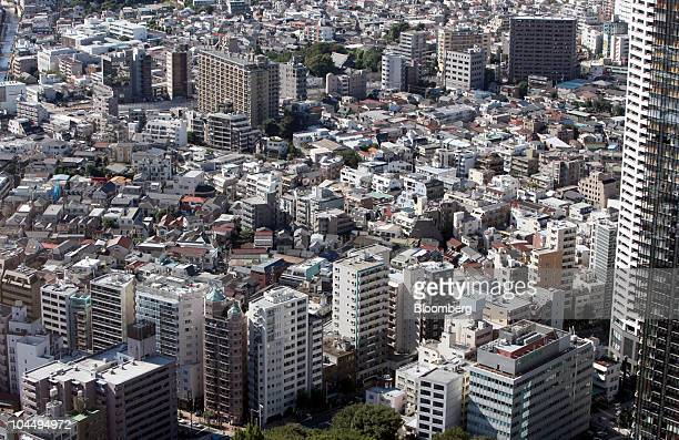 Apartment houses and other buildings are built up in Tokyo Japan on Saturday Sept 25 2010 'Reikin' or 'gift money' a nonrefundable fee on top of a...