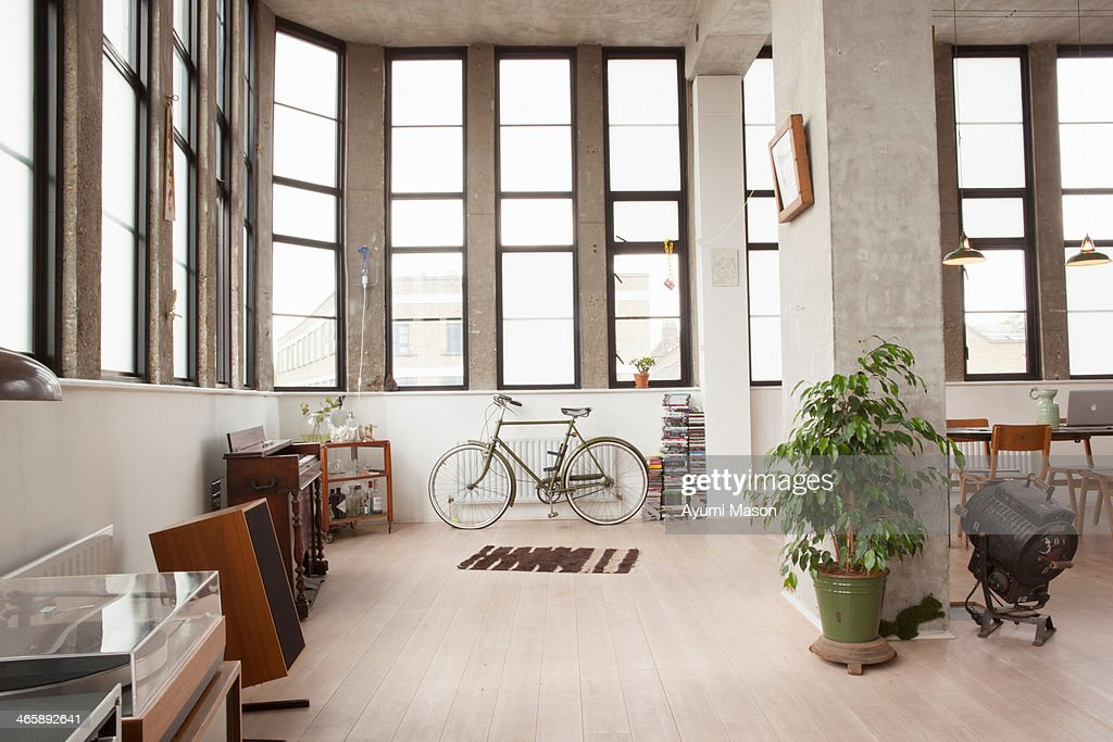 Apartment interior with retro style : Stock Photo