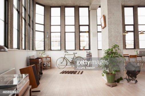 Apartment interior with retro style