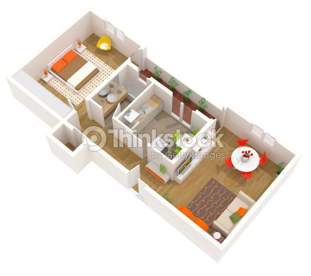 Appartementplan de conception 3d dun int rieur for Conception 3d appartement