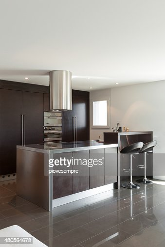 Apartment, modern kitchen : Stock Photo