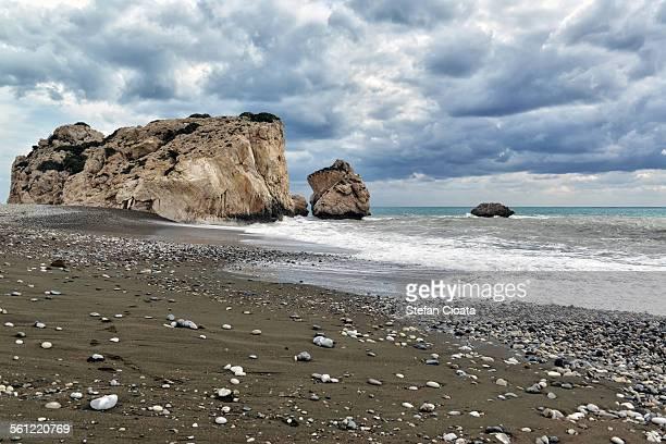 Aphordite's rock Mediteraneean beach