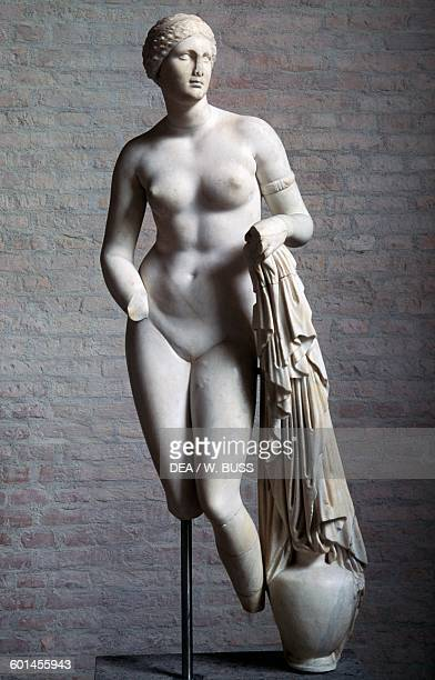 Aphrodite Braschi 1st century bC marble statue copy after a Greek statue of Praxiteles Greek and Roman civilisation Monaco Glyptothek